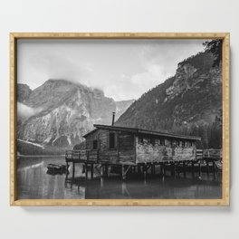House on Water (Black and White) Serving Tray