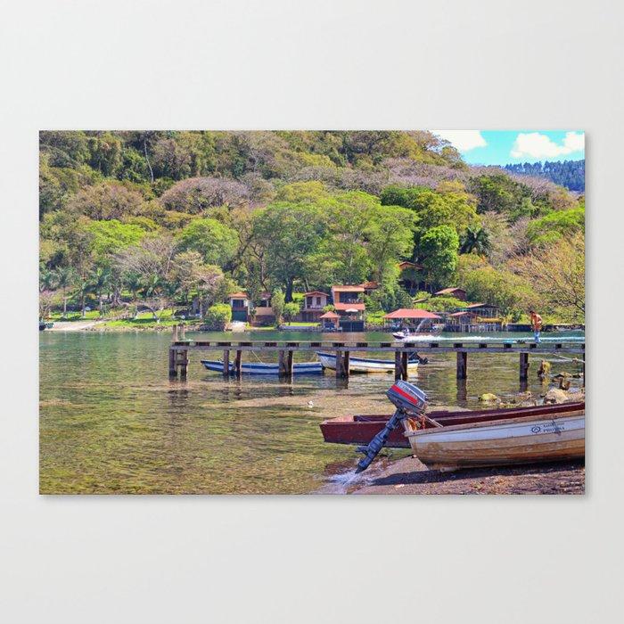 Gold lake Canvas Print