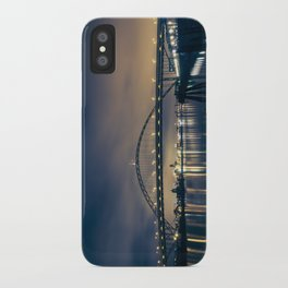 Fremont Bridge at Night iPhone Case