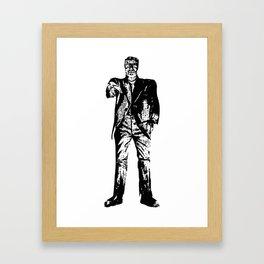 Famous monsters   Franky   Frankenstein   Gothic Framed Art Print