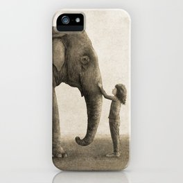 One Amazing Elephant - sepia option iPhone Case