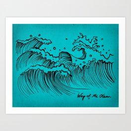 WAY OF THE OCEAN - Waves Print Art Print