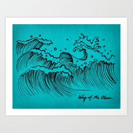 WAY OF THE OCEAN - Waves Print Art Print