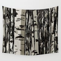 birch Wall Tapestries featuring Birch by LeahOwen