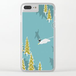 Girls snowboarding Clear iPhone Case