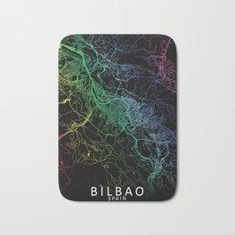 Bilbao, Spain, City, Map, Rainbow, Map, Art, Print Bath Mat