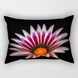 Big Kiss White Flame Flower Rectangular Pillow