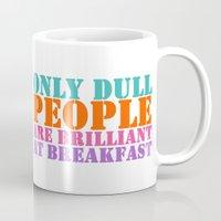 oscar wilde Mugs featuring Oscar Wilde #5 Dull People by bravo la fourmi