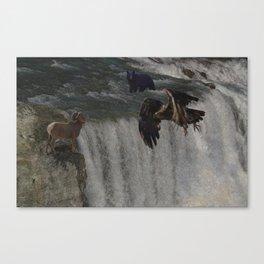 The Gathering Place - Wildlife Scene Canvas Print