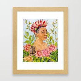 Portrait of Queen Calafia Framed Art Print