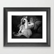 Tell me a Story Framed Art Print