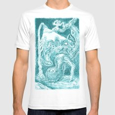 Creatures under Lamppost Mens Fitted Tee White MEDIUM