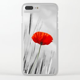 Poppy Red 070 Clear iPhone Case
