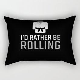 Rolling Brazilian Jiu Jitsu Gifts for Jiu Jitsu BJJ Gifts Rectangular Pillow