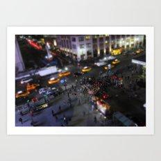 New York City Street Miniature Art Print