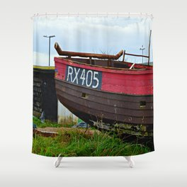 Old Fishing Boat Shower Curtain