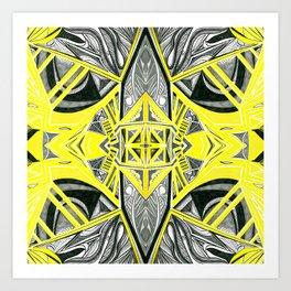 Suspended Yellow 4 Symmetrical design Art Print