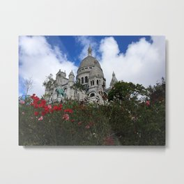 Sacre Coeur - Color Photograph Metal Print