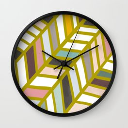 Washi Tape Chevron Pattern Wall Clock