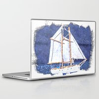 sailboat Laptop & iPad Skins featuring Sailboat by Michael P. Moriarty