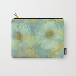 Gold and Blue Flower Garden Abstract Carry-All Pouch