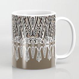 Dark Coffee Macramé Arrowhead Lace Pattern Coffee Mug