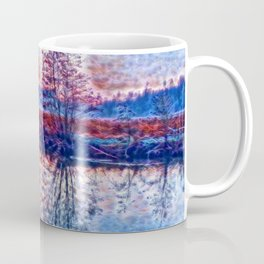 Tree in the Mist - Blue Hour Coffee Mug