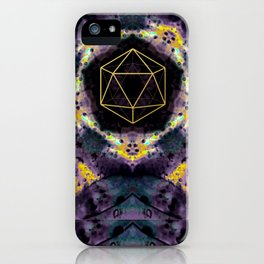 Gold Geometry Texture  iPhone Case