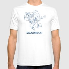 Mountaineer! (blue) Mens Fitted Tee White SMALL