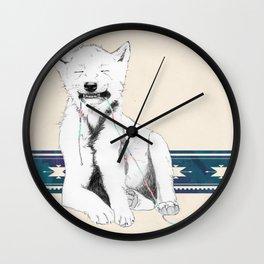Baby wolf Wall Clock