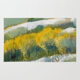 First Snow Landscape Painting / Dennis Weber / ShreddyStudio Rug