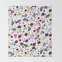 lolly pops and dots Throw Blanket