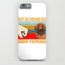 Best Dachshund Dad Ever T-Shirt Funny Cat Daddy Father Day Gift iPhone Case