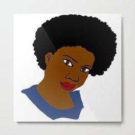 Love Your Beautiful Afro Natural Hair Metal Print