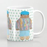biggie Mugs featuring Biggie by Late Greats by Chen Reichert