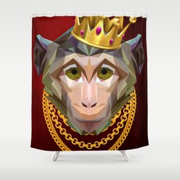 The King of Monkeys Shower Curtain