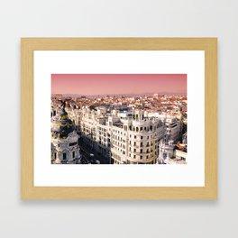 Madrid, Spain. Framed Art Print