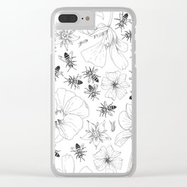 Honeybees and co. Clear iPhone Case
