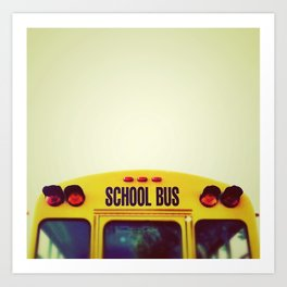 Yellow Bus Art Print