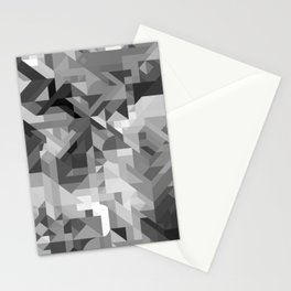 Black / White and Gray Scale Geometric Geometry Shape Pattern Stationery Cards