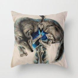 Dark souls abyss walker Throw Pillow