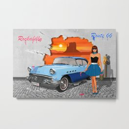 Rockabilly Street Art Metal Print
