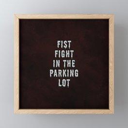 FIST FIGHT IN THE PARKING LOT  Framed Mini Art Print