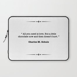 Charles M. Schulz Quote Laptop Sleeve
