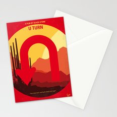 No745 My UTurn minimal movie poster Stationery Cards