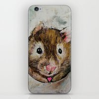 hamster iPhone & iPod Skins featuring Hamster Love by Michael Creese