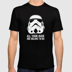 All Your Base Are Belong To Us Mens Fitted Tee MEDIUM Black