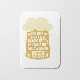 Beer Bread hop malt drinking funny gift Bath Mat