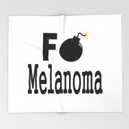 F Bomb Melanoma Throw Blanket
