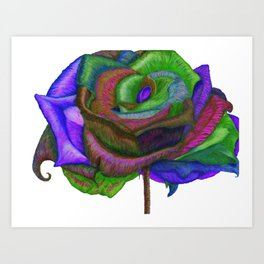 NERPLE Wild Rose (Rainbow Rose) Art Print